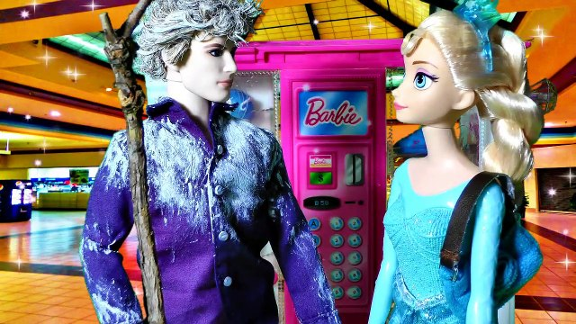 Disney Frozen Queen Elsa Anna Doll Shop Barbie Vending Machine Shopkins Season 2 & 3 Toys Jelsa