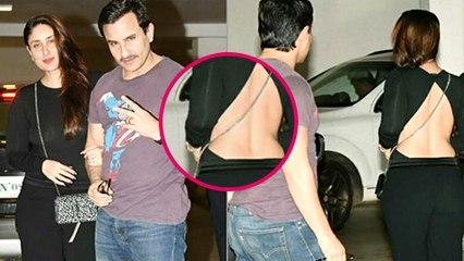 Kareena Kapoor Goes Backless In A hot Black Dress At Karan Johar Party