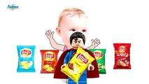 Badarn colors-Colorful Chips Lays vs Superman- Finger Fam