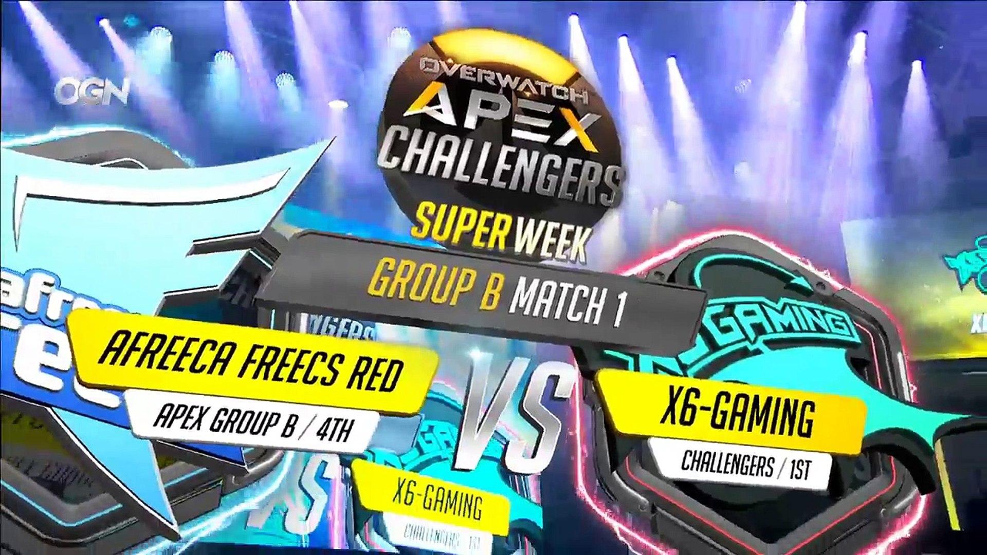 [OGN] Overwatch APEX Challengers Superweek - AF RED VS. X6-Gaming | MVP Infinity VS. Rhinos Gaming W