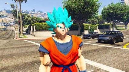 GOKU VS DEADPOOL   Super Saiyan God Goku SSJ Blue vs Deadpool - EPIC BATTLE (GTA V mod)