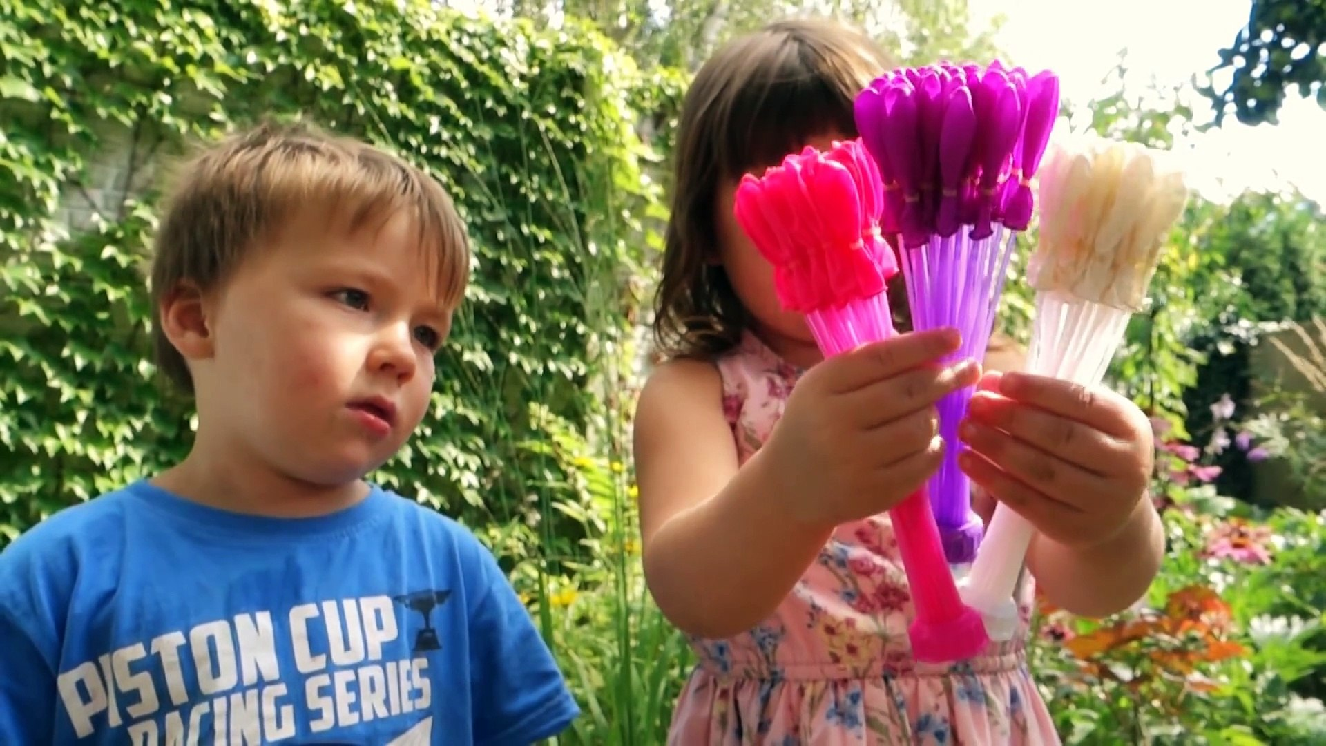 Kids ELSA vs. WATER BALLOONS Activities Kids Videos Fun Balloons and Toys