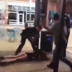 Cop Bodyslams Woman