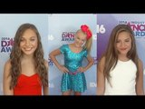 Dance Moms Stars: Maddie, JoJo, Mackenzie 2016 Industry Dance Awards Red Carpet