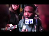 "Adrien Broner deflects questions about arrest warrant - ""Theres no beef between me & Floyd!"""
