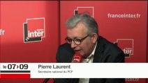 Pierre Laurent répond aux auditeurs dans Interactiv'