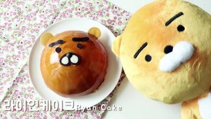 How to make KAKAO FRIENDS RYAN Cake / 女카카오프렌즈 라이언 케이크 만들기!!! 이제이레시피 EJ recipe