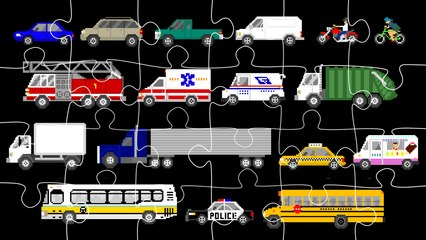 Street Vehicles Jigsaw Puzzle - Cars & Trucks - The Kids' Picture Show (Fun & Educational)