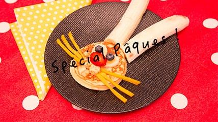 """Spécial Pâques ! """"Le Lapin"""" (pancakes)"""