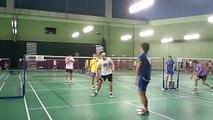 Lee Yong Dae/Ko Sung Hyun training badminton