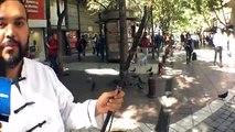 """Artista Callejero: Matías Guajardo Músico ,nos presenta el """"Erhu"""" violín chino,Paseo Estado, Santiago de Chile."""