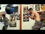 Leo Santa Cruz vs. Abner Mares full video- Santa Cruz complete boxing workout