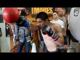 Leo Santa Cruz vs  Abner Mares full video: Santa Cruz workout video - double end bag & speed bag