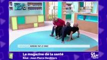 Le fou rire de Marina Carrère d'Encausse après un drôle d'exercice physique !