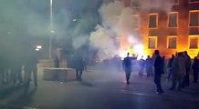 """Pas kërcënimit të Bashës, protestuesit i """"vënë flakën"""" Kryeministrisë"""