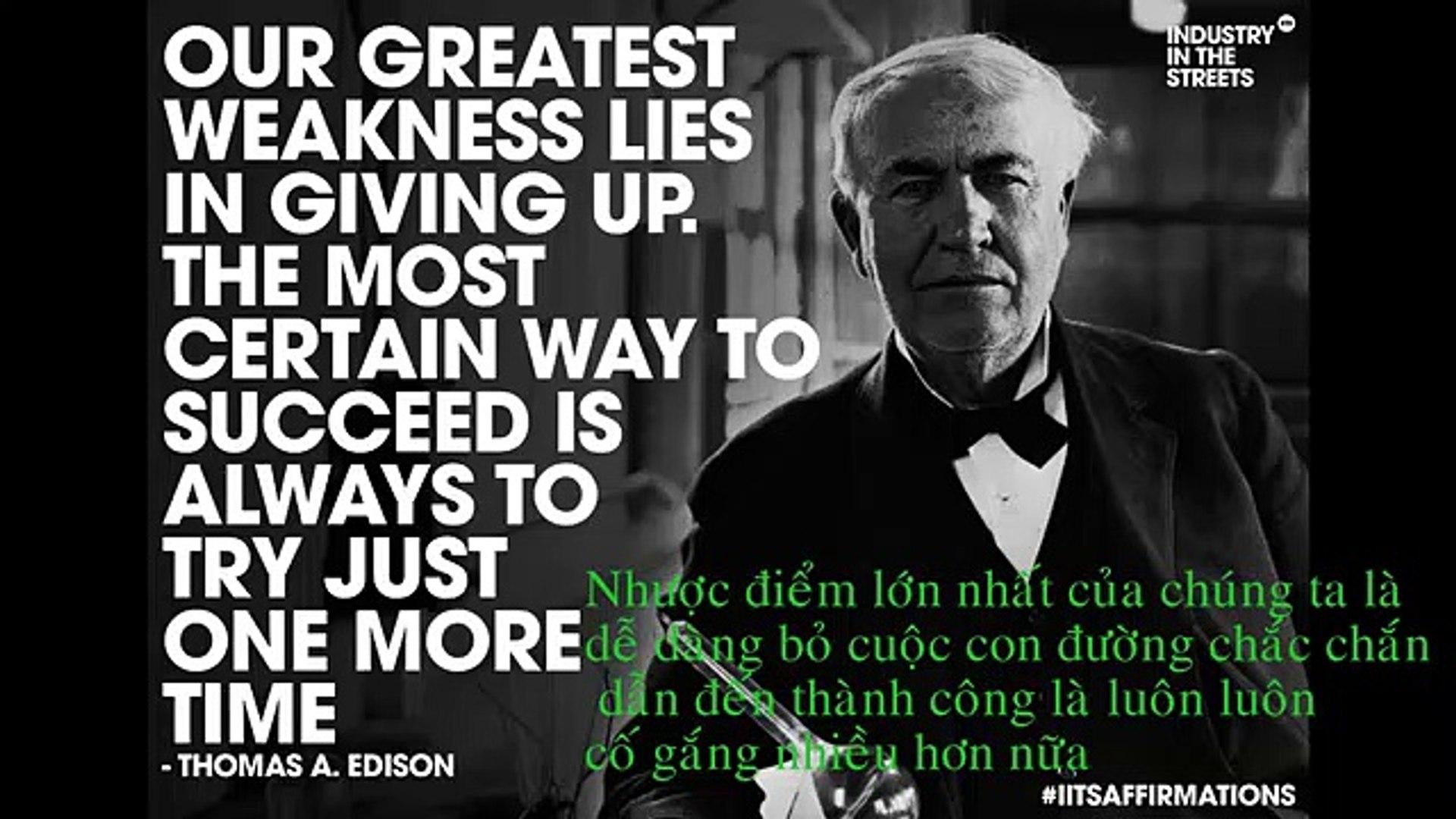 Sang Tao's Thomas Edison on Success and Success