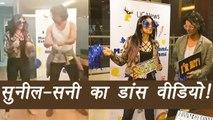 Sunil Grover teaches Sunny Leone Giddha; Watch Video | FilmiBeat