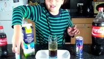 5  Crazy Experiences Coca Cola + Mentos + Red Bull + Lait ....