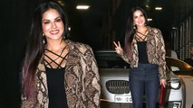 Sunny Leone and Daniel Weber Spotted at Artist Agency