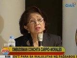 UB: Morales, iginiit na hindi naging selective sa pagsasampa ng kaso kaugnay ng Pork Barrel Scam