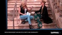 Nicole Richie giflée par une journaliste, elle en perd ses lunettes (vidéo)