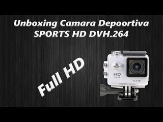 Unboxing y  Review Camara Deportiva |SPORTS HD DV| H.264 FULL HD