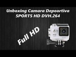 Unboxing y  Review Camara Deportiva  SPORTS HD DV  H.264 FULL HD