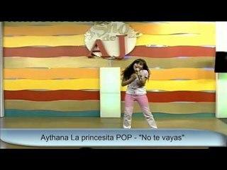 Aythana en el Show de AJ -Telefe de Rosario