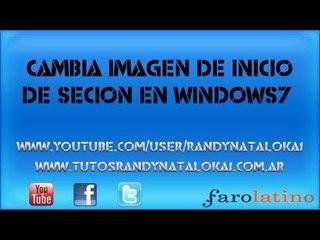 cambia la imagen de inicio de cesión de windows7  Personalización 