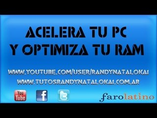 Acelera tu pc y optimiza tu memoria RAM