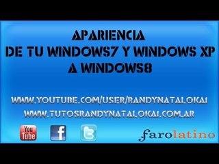 Cambia la apariencia de tu windows7 y windows XP a ++ windows8++