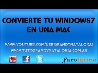 Apariencia de Mac! para Windows 7