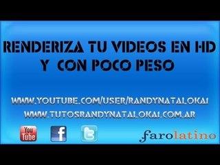 Renderiza tu videos en HD y  Con poco peso 