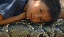 Sambath et Chomran, l amitié incroyable entre un serpent et un an, l amitié incroyable entre