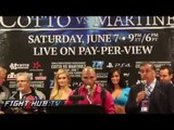 Cotto vs. Martinez full post fight press conference video highlights