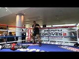 Anthony Joshua vs. Matt Legg: Joshua jump rope & shadow boxing routine