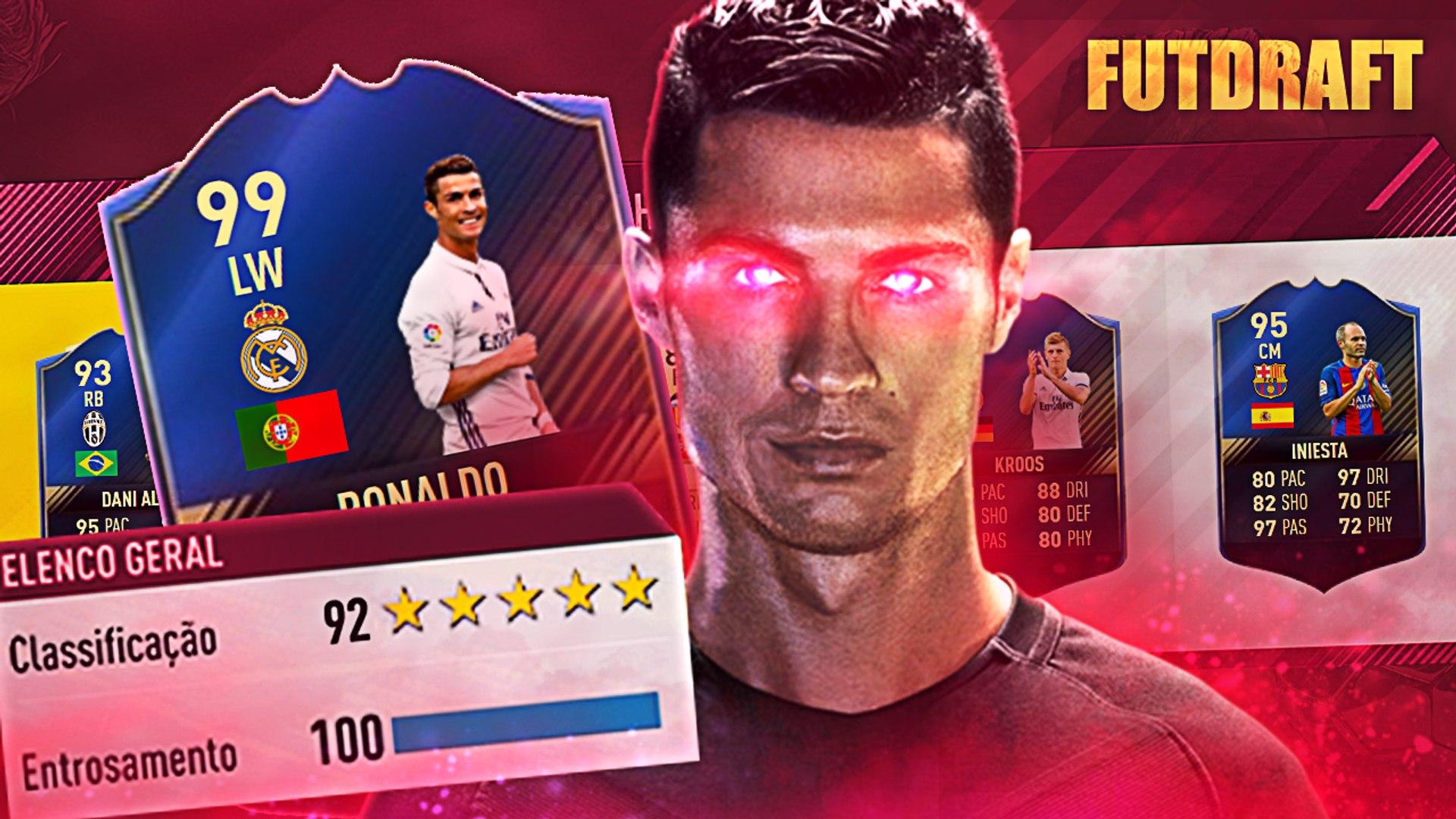 FIFA 17 FUT DRAFT - MEU DEUS O MELHOR TIME DA MINHA VIDA, 192?!!!!!