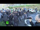 RAW: Clashes erupt between police & supporters of IDF soldier charged with killing Palestinian