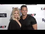 """98 Degrees Jeff Timmons & Amanda Timmons SyFy """"Dead 7"""" Movie Premiere"""