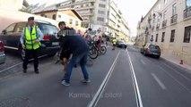 Ce voleur s'en est pris au mauvais cycliste... Violent!