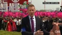 Alors que la tension n'a jamais été aussi forte avec les USA, CNN au coeur du défilé de la Corée du Nord