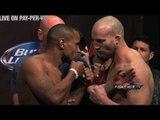 UFC 170 Rousey vs. McMann: Daniel Cormier vs. Pat cummins weigh in & face off video