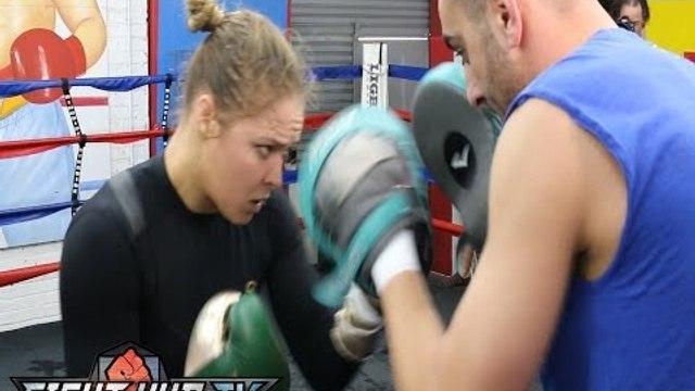 UFC 170-Ronda Rousey vs. Sara McMann: Rousey full workout