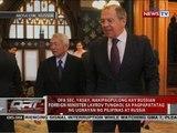 DFA Sec. Yasay, nakipagpulong kay Russian Foreign Minister Lavrov