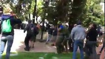 16 arrested as hundreds of Trump supporters and counter-protesters clash at Berkeley rally