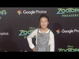 "Aubrey Anderson-Emmons ""Zootopia"" Los Angeles Premiere Red Carpet"