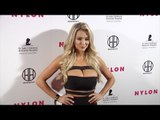 """Lindsey Pelas NYLON """"Muses & Music"""" Grammy Pre-Party Red Carpet in Los Angeles"""