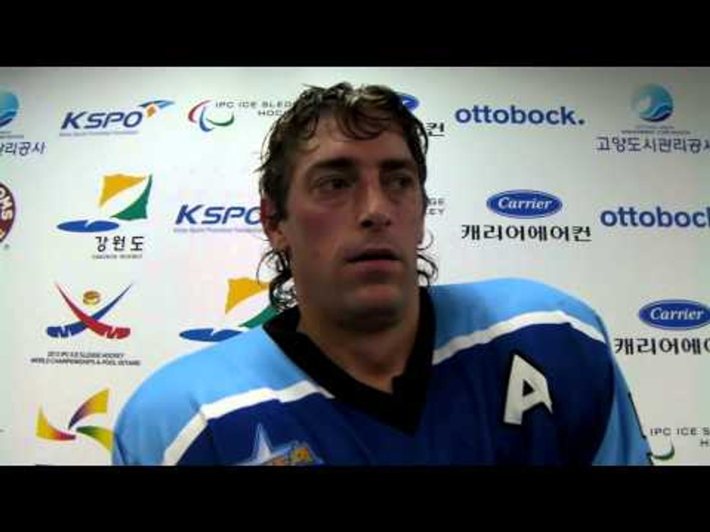 Italy's Florian Planker - 2013 IPC Ice Sledge Hockey World Championships A-Pool Goyang