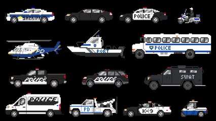 Police Vehicles - Emergency Vehicles - The Kids' Picture Show (Fun & Educational Learning Video)
