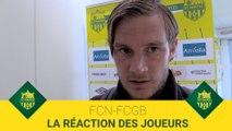 FCN-FCGB : la réaction des joueurs